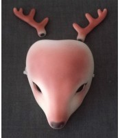 Doll Leaves: Deer mask & antlers (painted, in stock)