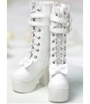 Loongsoul: High boots 1/4 white, with lacing and bowknots