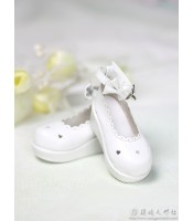 Loongsoul: Shoes 1/4 white, with hearts and bowknots